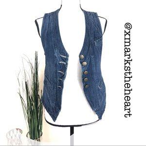 CAbi Jeans Button Up Denim Vest